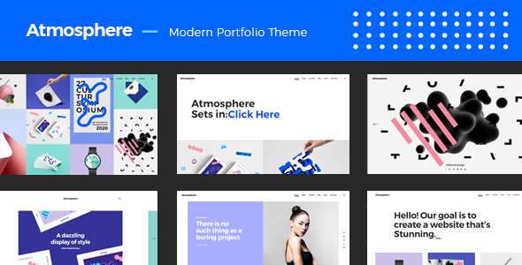 Wordpress Kreativ Template Atmosphere - A Bold, Fresh Portfolio Theme