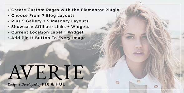 Wordpress Blog Template Averie - A Blog & Shop Theme