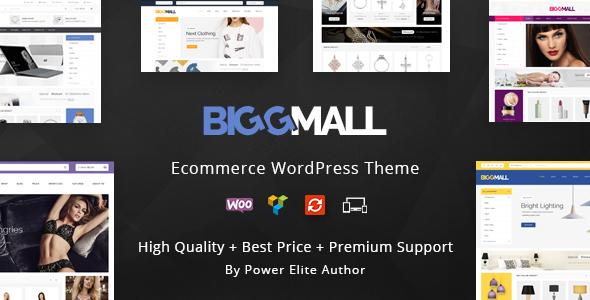 Wordpress Shop Template BiggMall - Multipurpose WooCommerce Theme