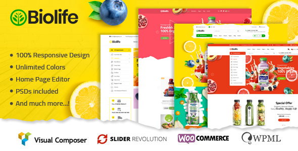 Wordpress Shop Template Biolife - Organic Food WordPress Theme