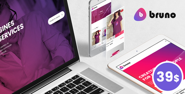 Wordpress Kreativ Template Bruno - Creative Multi Purpose WordPress Theme