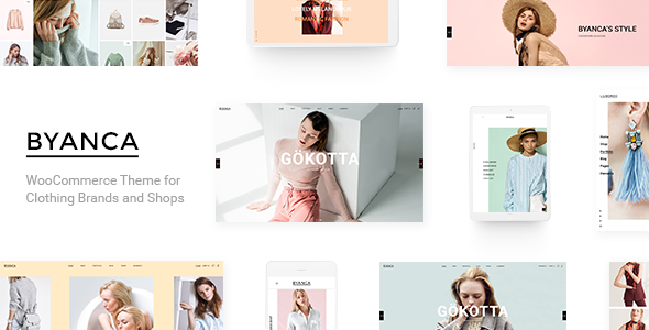 Wordpress Shop Template Byanca - Modern WooCommerce Theme for Clothing Brands and Shops