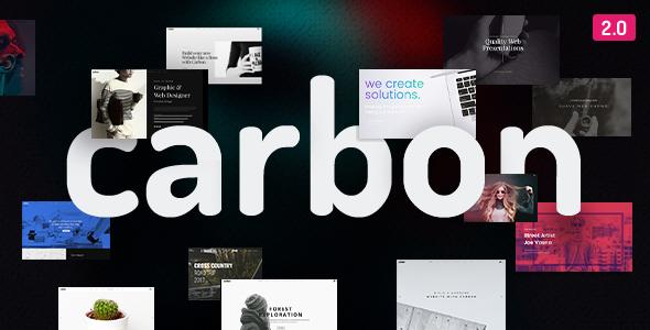 Wordpress Kreativ Template Carbon - Clean Minimal Multipurpose WordPress Theme