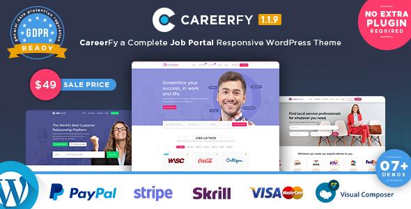 Wordpress Directory Template Careerfy - Job Board WordPress Theme