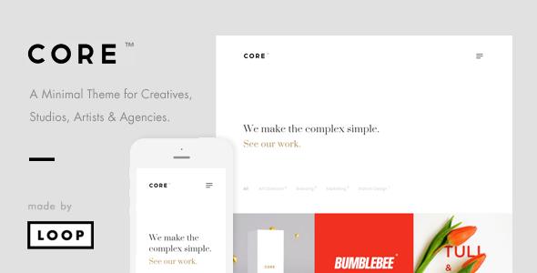 Wordpress Kreativ Template Core – A Minimal Portfolio WordPress Theme for Creatives, Studios, Artists & Agencies