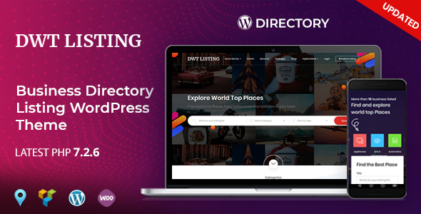 Wordpress Directory Template DWT Listing - Directory & Listing WordPress Theme