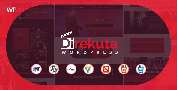 Wordpress Entertainment Template Direkuta - The Director & Video Portfolio WordPress Theme