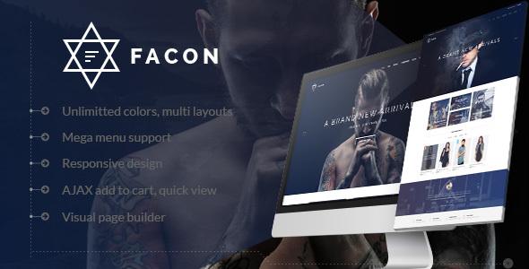 Wordpress Shop Template Facon - Fashion Responsive WordPress Theme