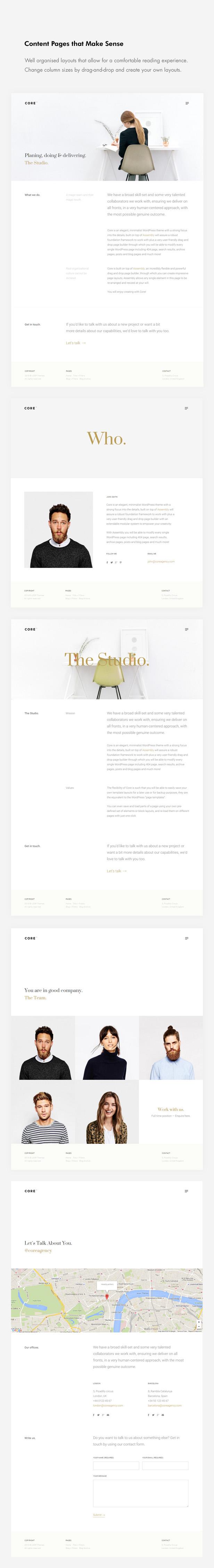 Core - Ein Minimal-Portfolio-WordPress-Layout für Kreative, Studios, Künstler und Agenturen