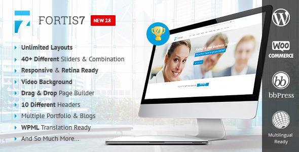 Wordpress Corporate Template Fortis7 - Responsive Multi-Purpose Theme