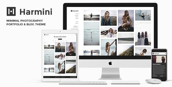 Wordpress Kreativ Template Photography   Harmini Photography WordPress for photography