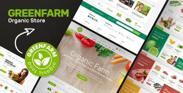 Wordpress Shop Template Greenfarm - Organic Theme for WooCommerce WordPress