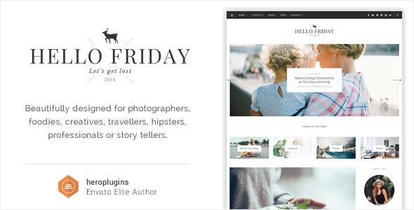 Wordpress Blog Template Hello Friday - Elegant Lifestyle Blog Theme