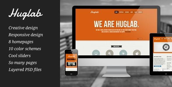 Wordpress Corporate Template Huglab - Responsive Multi-Purpose Theme