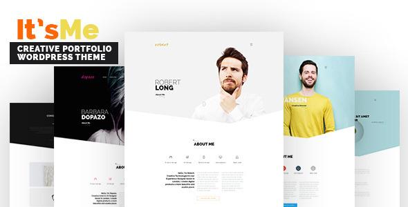 Wordpress Kreativ Template It's Me - Creative Portfolio WordPress Theme