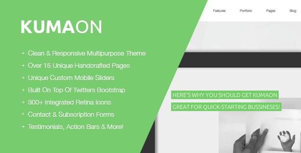 Wordpress Corporate Template KUMAON, Clean Multipurpose WordPress Theme