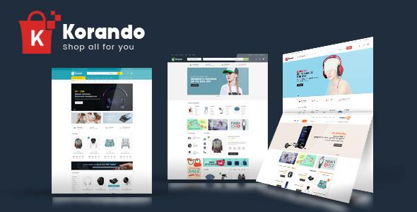 Wordpress Shop Template Korando - Multipurpose Theme for WooCommerce WordPress