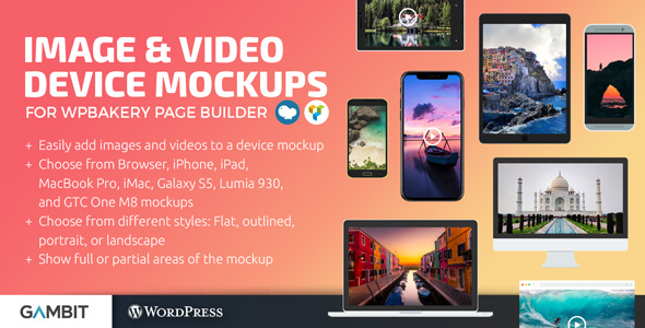 Wordpress Add-On Plugin Image & Video Device Mockups Shortcode