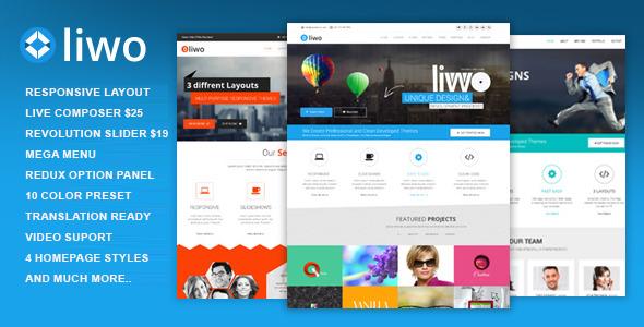 Wordpress Kreativ Template Liwo - MultiPurpose WordPress Theme