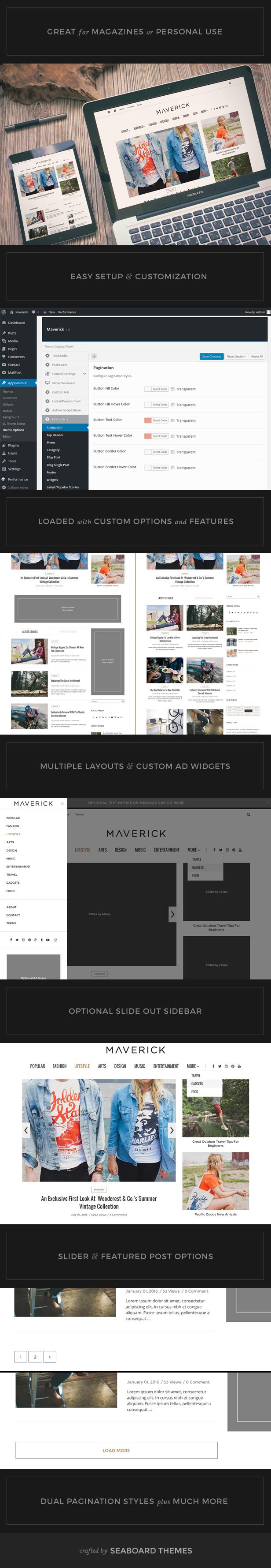 Maverick - Ein WordPress Magazine Template