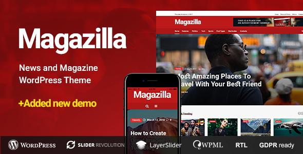 Wordpress Blog Template Magazilla - News & Magazine Theme