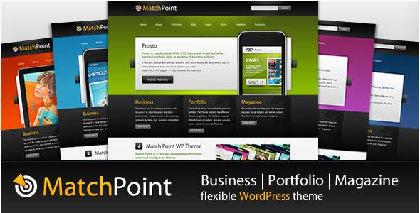 Wordpress Corporate Template MatchPoint - Business, Portfolio, Magazine theme