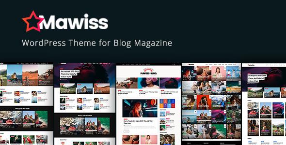 Wordpress Blog Template Mawiss - WordPress Blog Magazine Theme