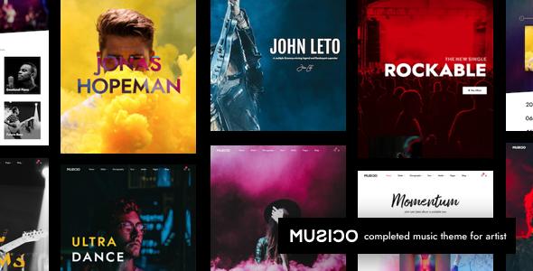 Wordpress Entertainment Template Musico | Music Band WordPress