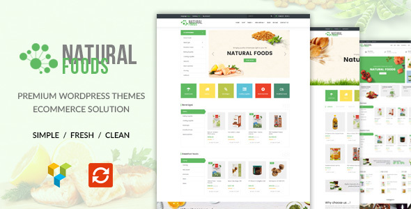 Wordpress Shop Template NaturalFood - Responsive WooCommerce WordPress Theme