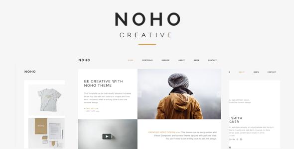 Wordpress Kreativ Template Noho  - Creative Agency Portfolio WordPress Theme