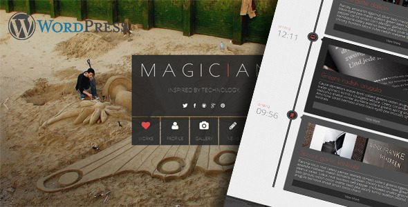 Wordpress Kreativ Template Magician Responsive Parallax WordPress Theme