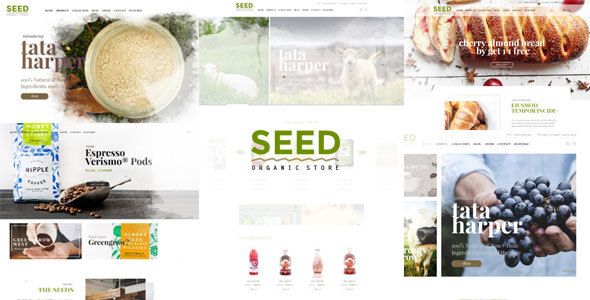 Wordpress Shop Template Seed - Organic WordPress Theme