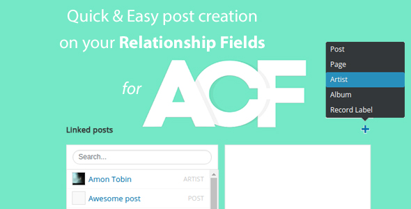 Wordpress Add-On Plugin Quick and easy Post creation for ACF Relationship Fields PRO