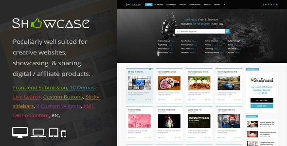 Wordpress Blog Template Showcase = Responsive WordPress Grid / Masonry Blog Theme