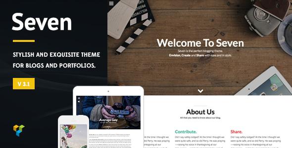 Wordpress Blog Template Seven - Stylish WordPress Theme