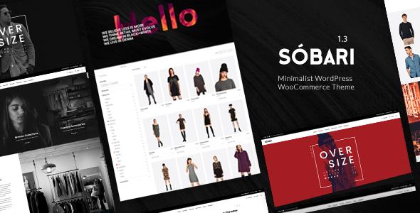 Wordpress Shop Template Sobari – Minimalist WordPress WooCommerce Theme