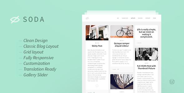 Wordpress Blog Template Soda — Clean Responsive Blog WordPress Theme