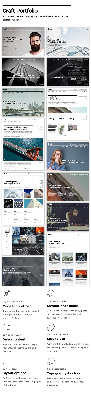 Craft Portfolio - Architektur- und Design-Portfolio