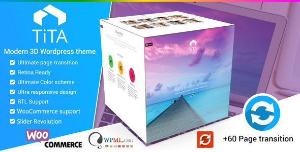 Wordpress Kreativ Template Tita 3D - Modern WordPress Theme