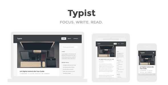 Wordpress Blog Template Typist - WordPress Theme for Serious Writers