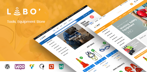 Wordpress Shop Template VG Labo - WooCommerce Theme for Tools, Equipment Store