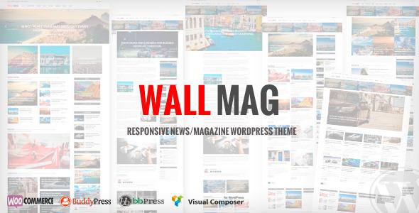 Wordpress Blog Template WallMag - Responsive News/Magazine WordPress Theme