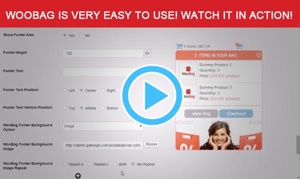 Wordpress E-Commerce Plugin WooBag - Customize Your Cart Easily
