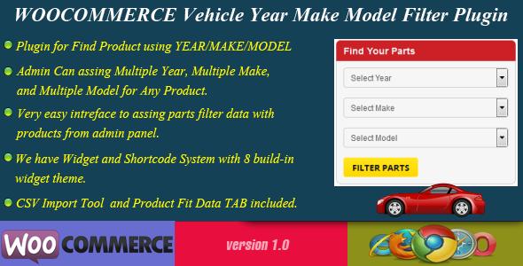 Wordpress E-Commerce Plugin WooCommerce Vehicle Parts Finder - Year/Make/Model