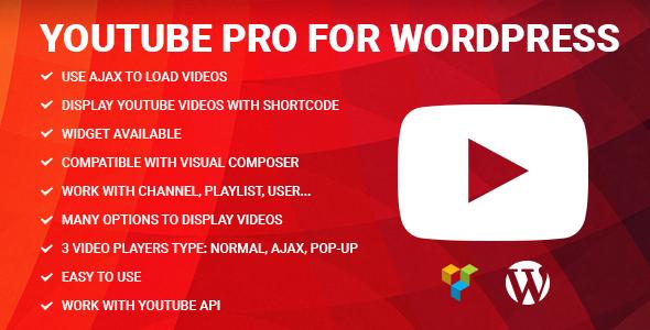 Wordpress Add-On Plugin Youtube Pro for WordPress