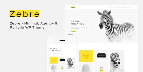 Wordpress Kreativ Template Zebre - Minimal, Agency & Porfolio WP Theme