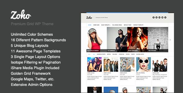 Wordpress Kreativ Template Zoho - WordPress Grid Portfolio