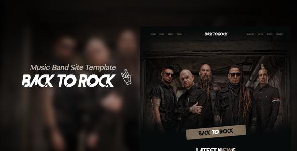 Wordpress Entertainment Template Back to Rock - Creative Music Band WordPress Theme