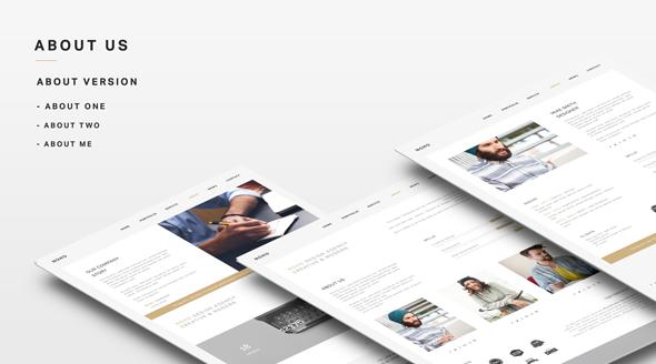 WordPress-Vorlage für eine Kreativagentur
