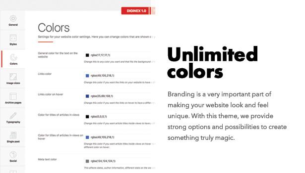 Diginex hat unbegrenzte Farben